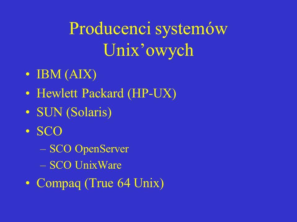 Producenci systemów Unix'owych
