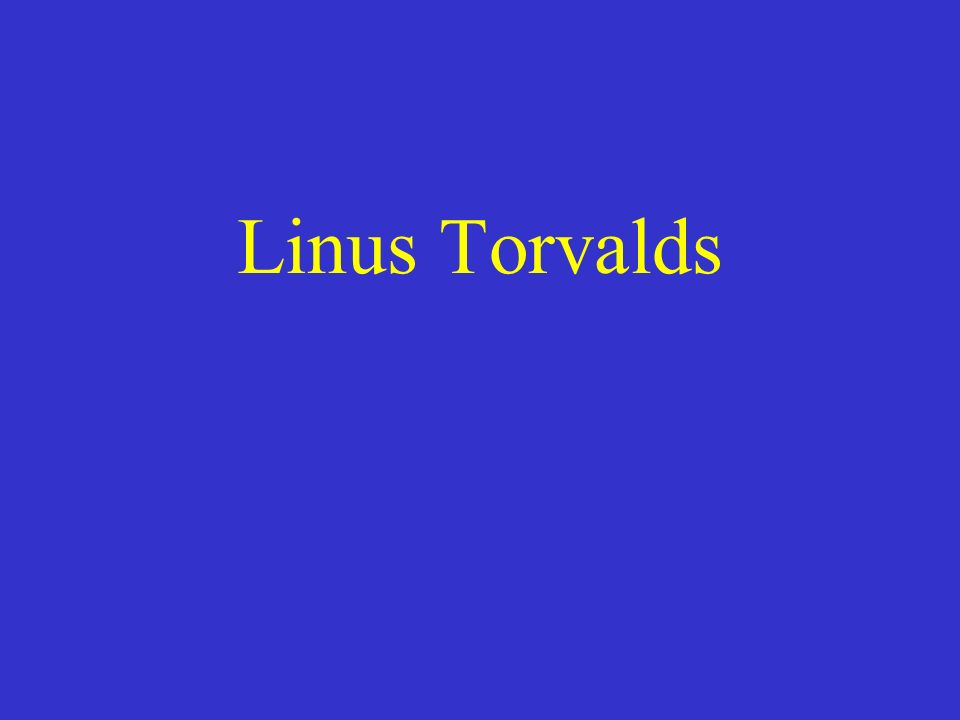 Linus Torvalds