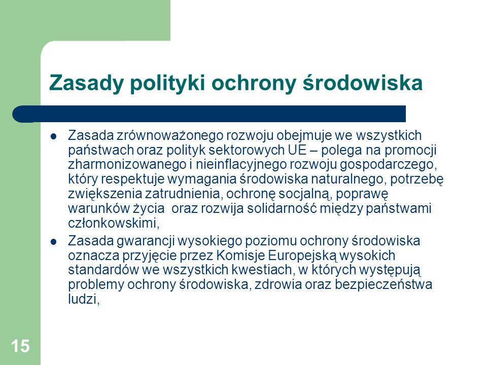 Zasady polityki ochrony środowiska