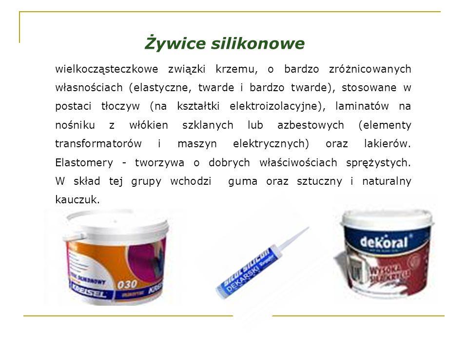 Żywice silikonowe