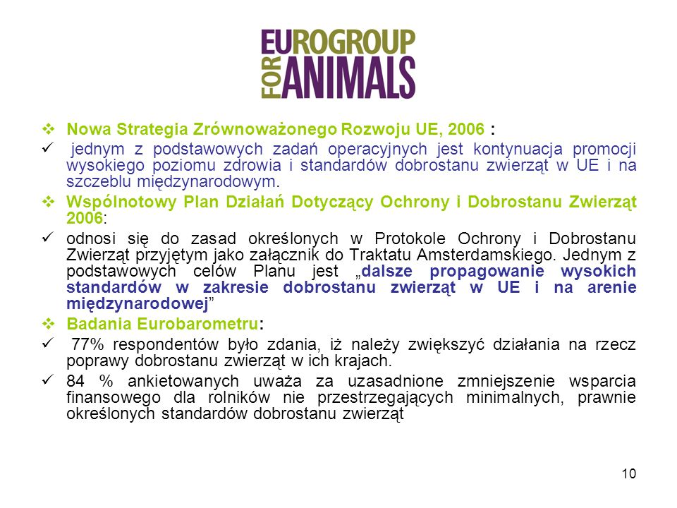 Nowa Strategia Zrównoważonego Rozwoju UE, 2006 :