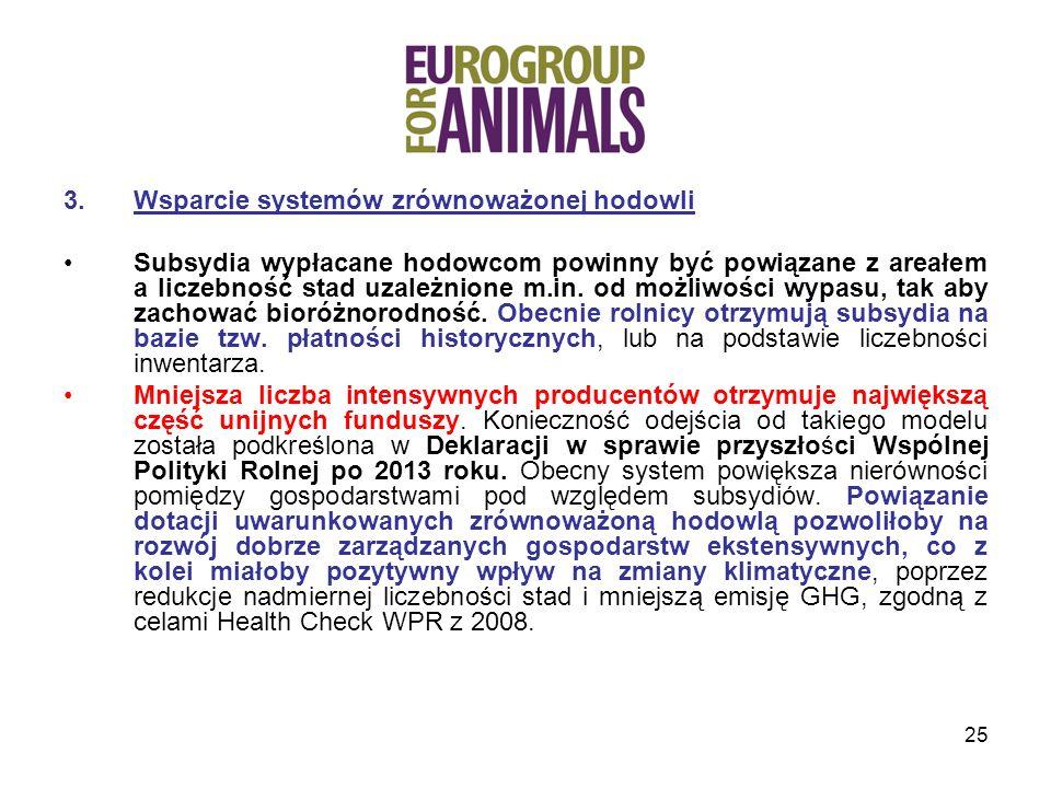 Wsparcie systemów zrównoważonej hodowli