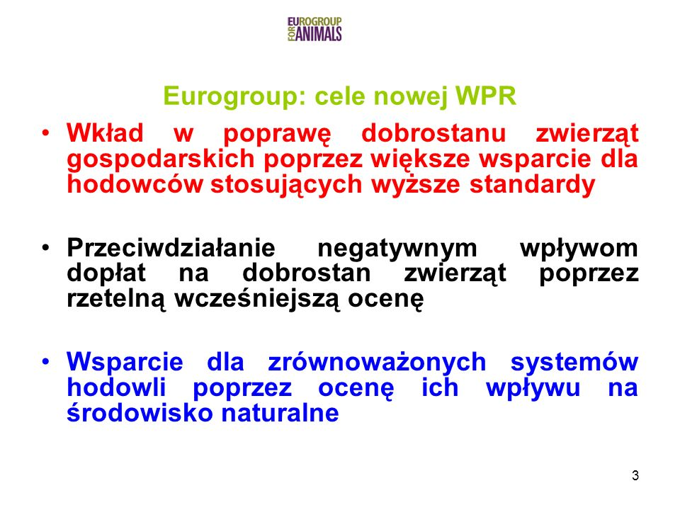 Eurogroup: cele nowej WPR