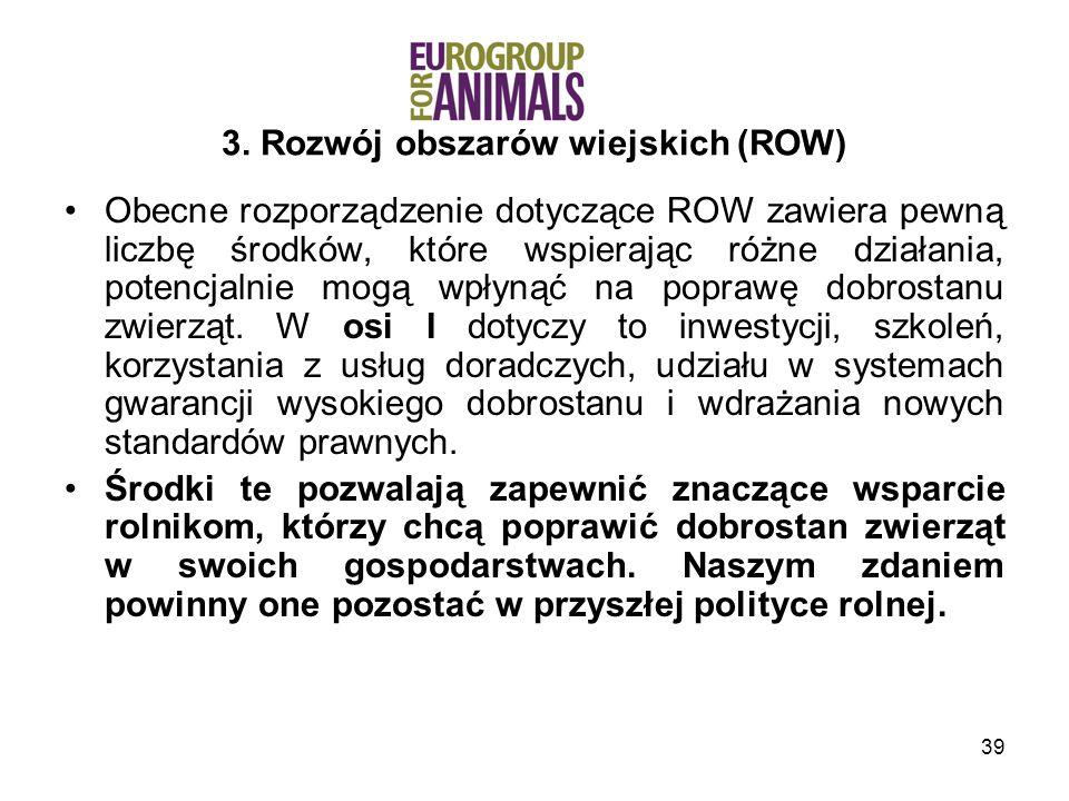 3. Rozwój obszarów wiejskich (ROW)