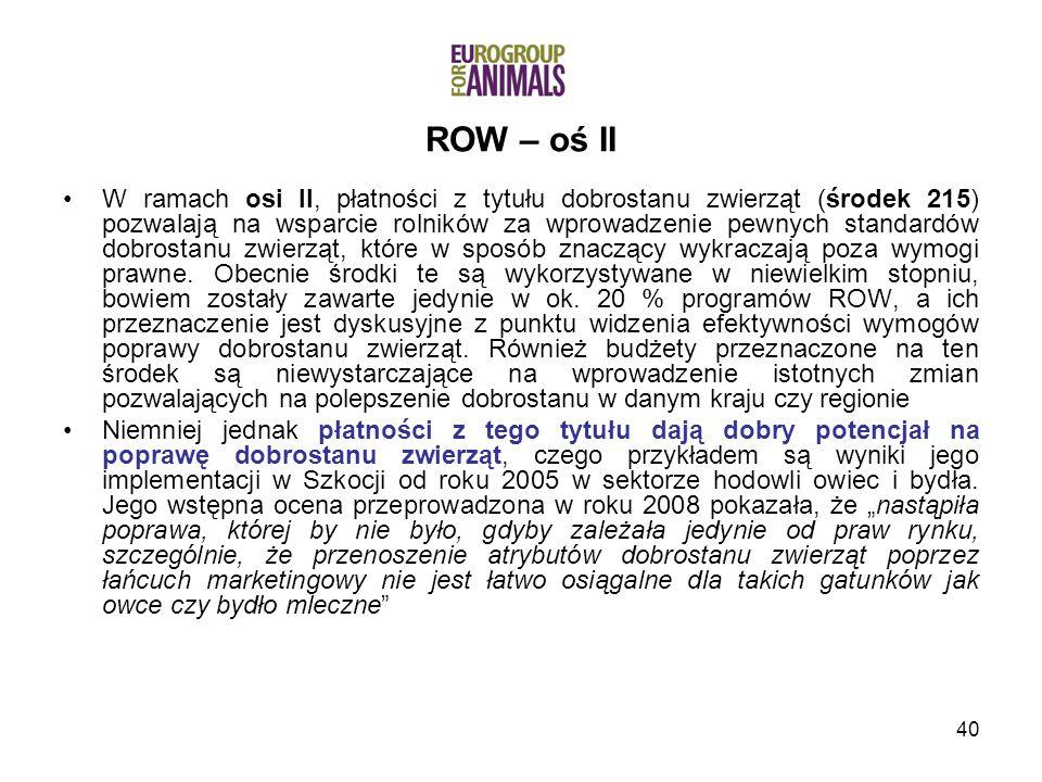 ROW – oś II