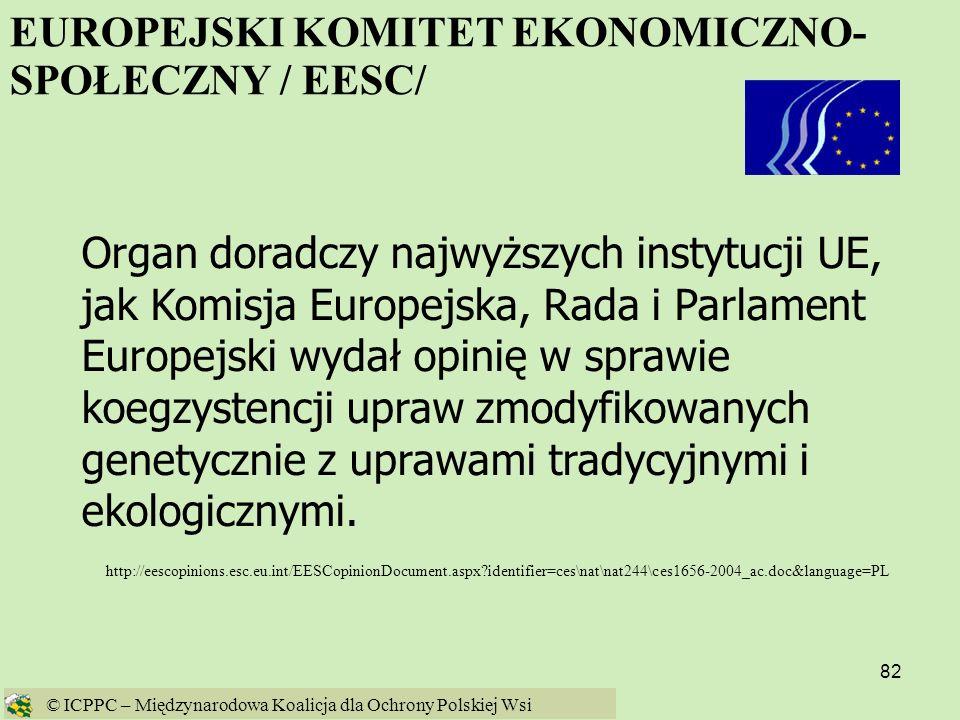 EUROPEJSKI KOMITET EKONOMICZNO-SPOŁECZNY / EESC/