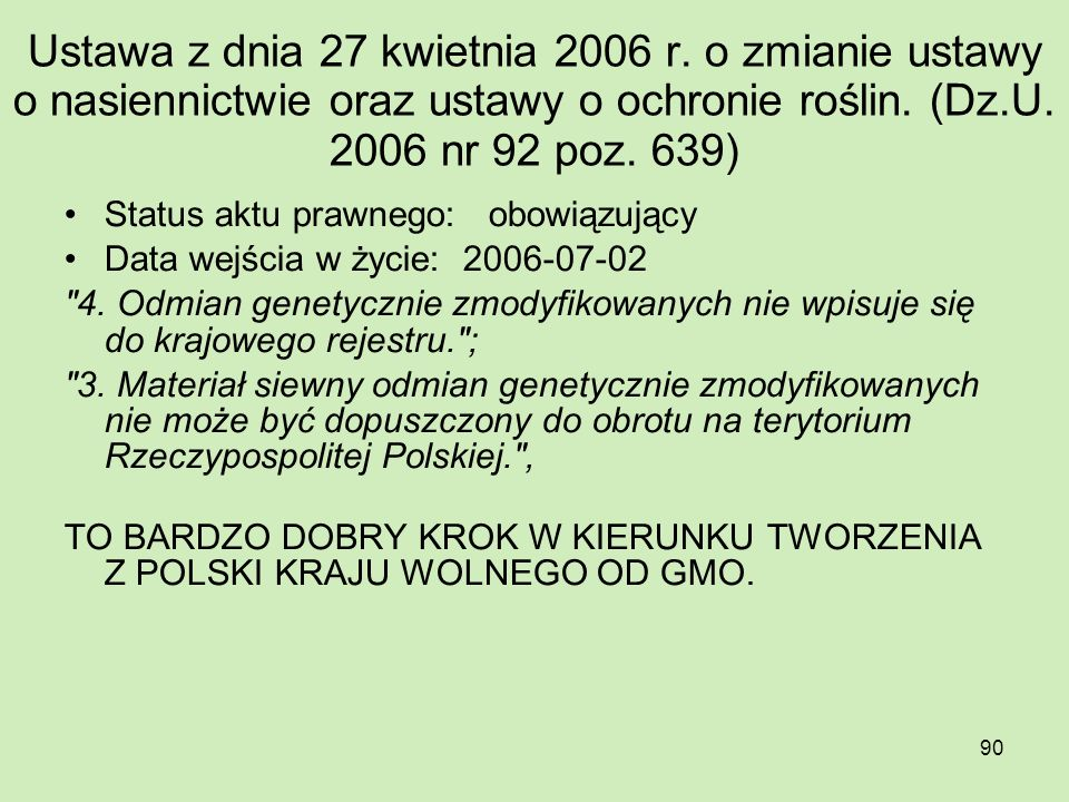 Ustawa z dnia 27 kwietnia 2006 r