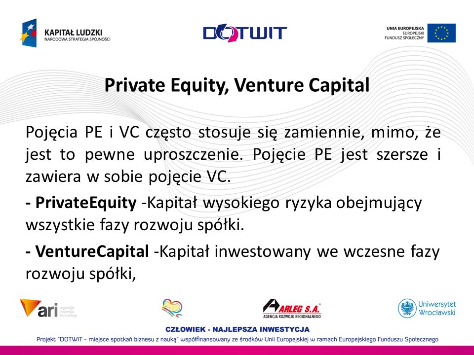 Private Equity, Venture Capital