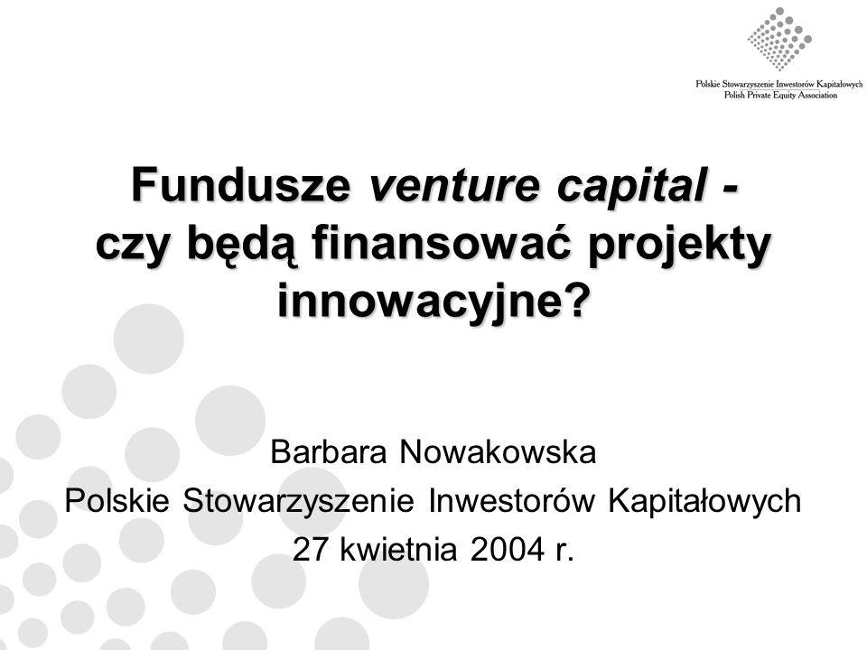 Fundusze venture capital - czy będą finansować projekty innowacyjne
