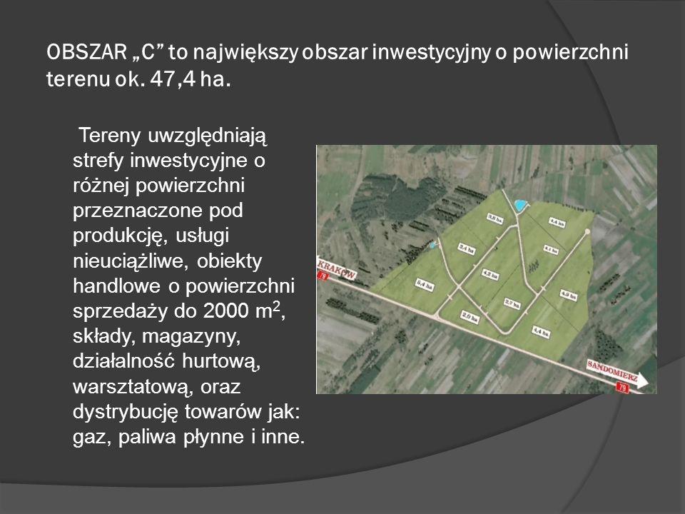 """OBSZAR """"C to największy obszar inwestycyjny o powierzchni terenu ok"""