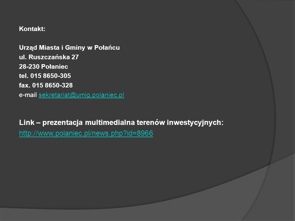 Link – prezentacja multimedialna terenów inwestycyjnych: