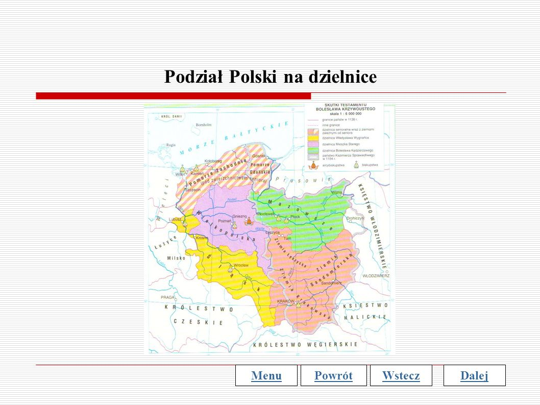Podział Polski na dzielnice