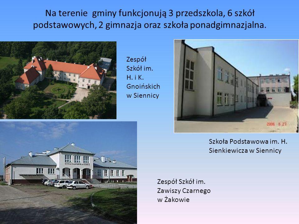 Na terenie gminy funkcjonują 3 przedszkola, 6 szkół podstawowych, 2 gimnazja oraz szkoła ponadgimnazjalna.
