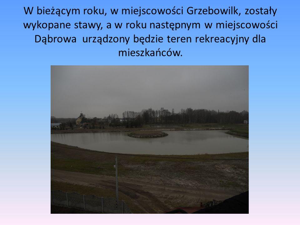 W bieżącym roku, w miejscowości Grzebowilk, zostały wykopane stawy, a w roku następnym w miejscowości Dąbrowa urządzony będzie teren rekreacyjny dla mieszkańców.