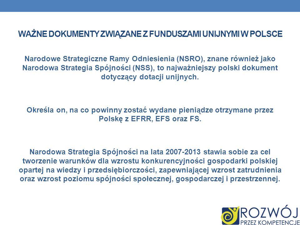 Ważne dokumenty związane z funduszami unijnymi w Polsce
