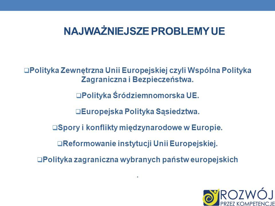 Najważniejsze problemy UE