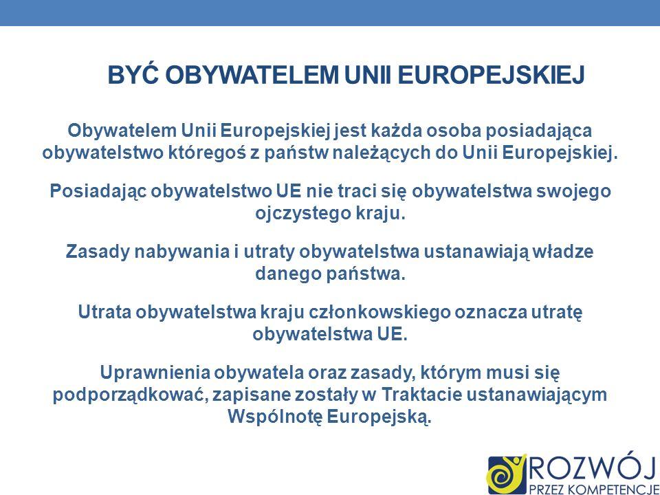 Być Obywatelem Unii Europejskiej