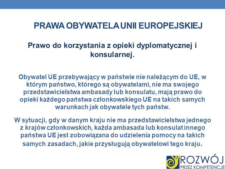 Prawa obywatela Unii Europejskiej