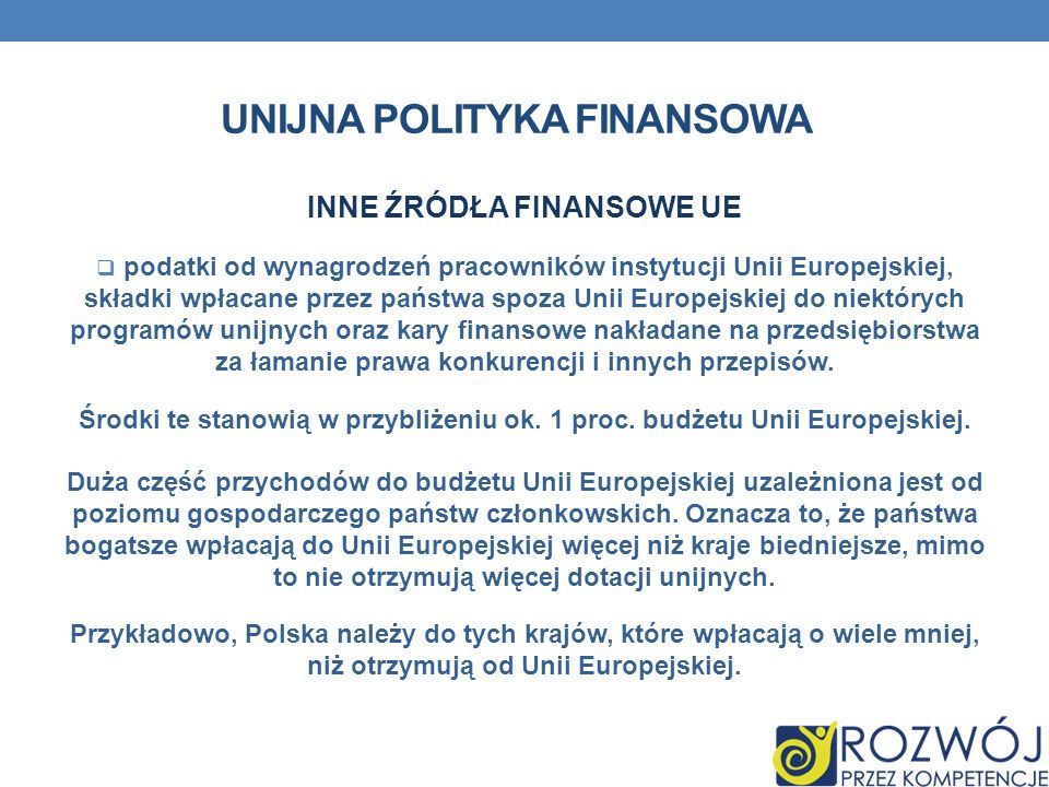 unijna polityka finansowa