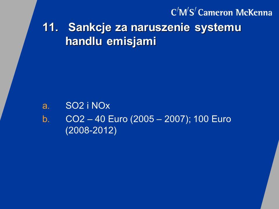 11. Sankcje za naruszenie systemu handlu emisjami