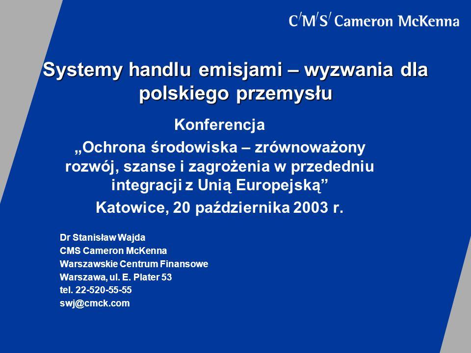 Systemy handlu emisjami – wyzwania dla polskiego przemysłu