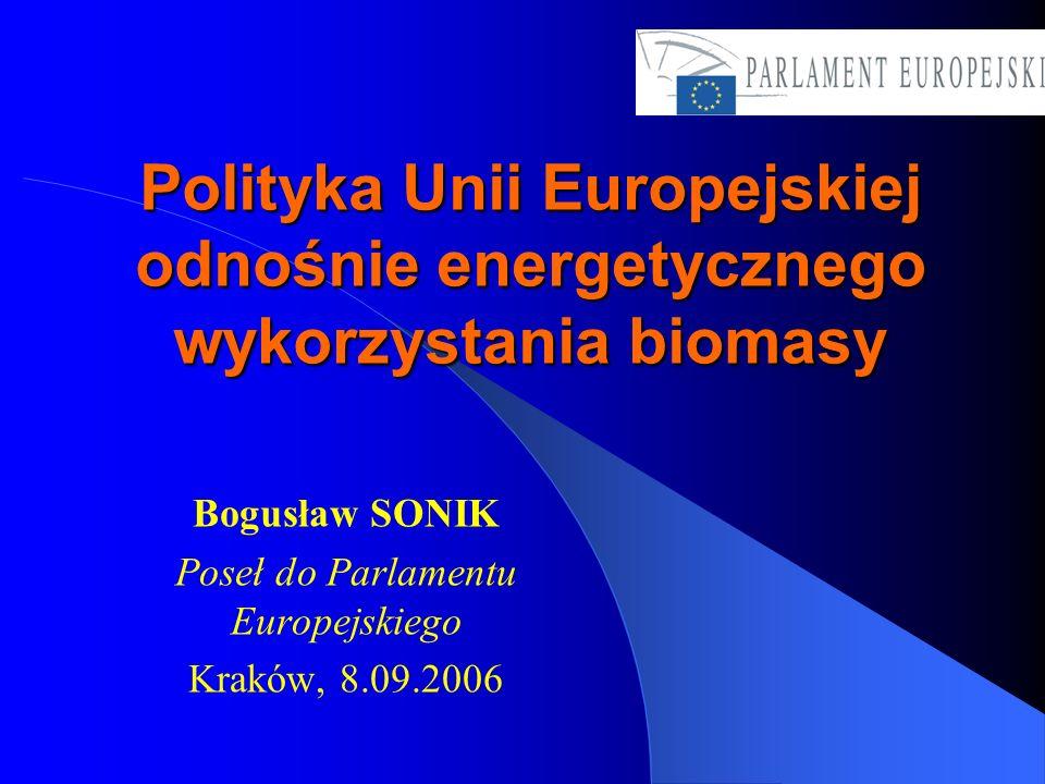 Bogusław SONIK Poseł do Parlamentu Europejskiego Kraków, 8.09.2006