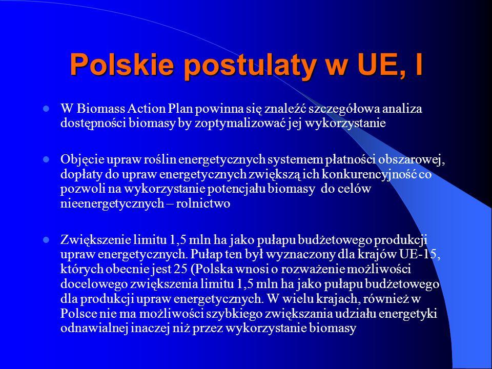 Polskie postulaty w UE, I