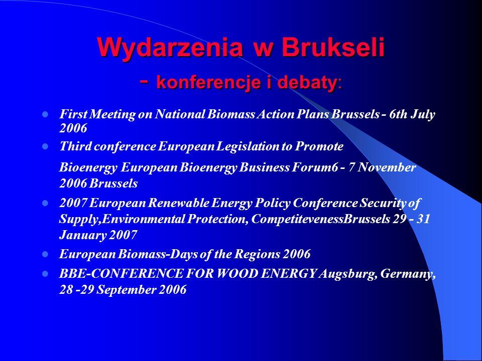 Wydarzenia w Brukseli - konferencje i debaty: