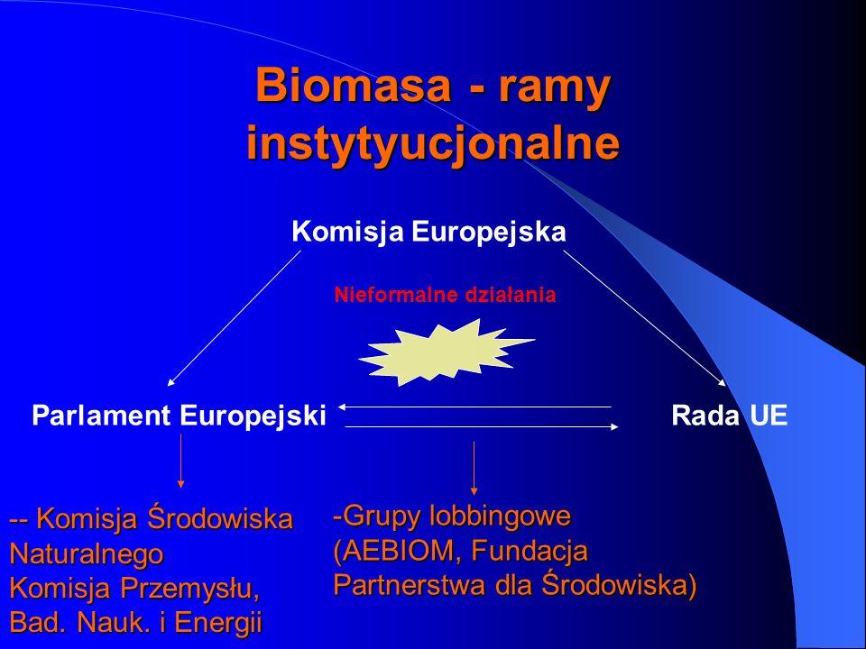Biomasa - ramy instytyucjonalne