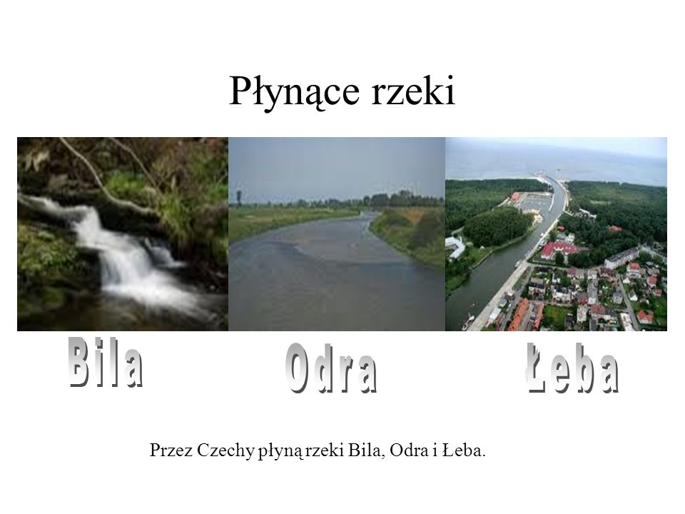 Płynące rzeki Bila Odra Łeba