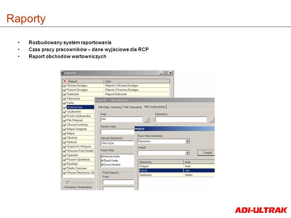 Raporty Rozbudowany system raportowania