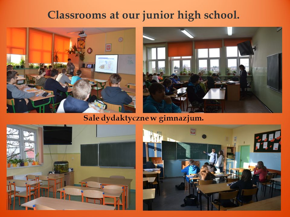 Classrooms at our junior high school.
