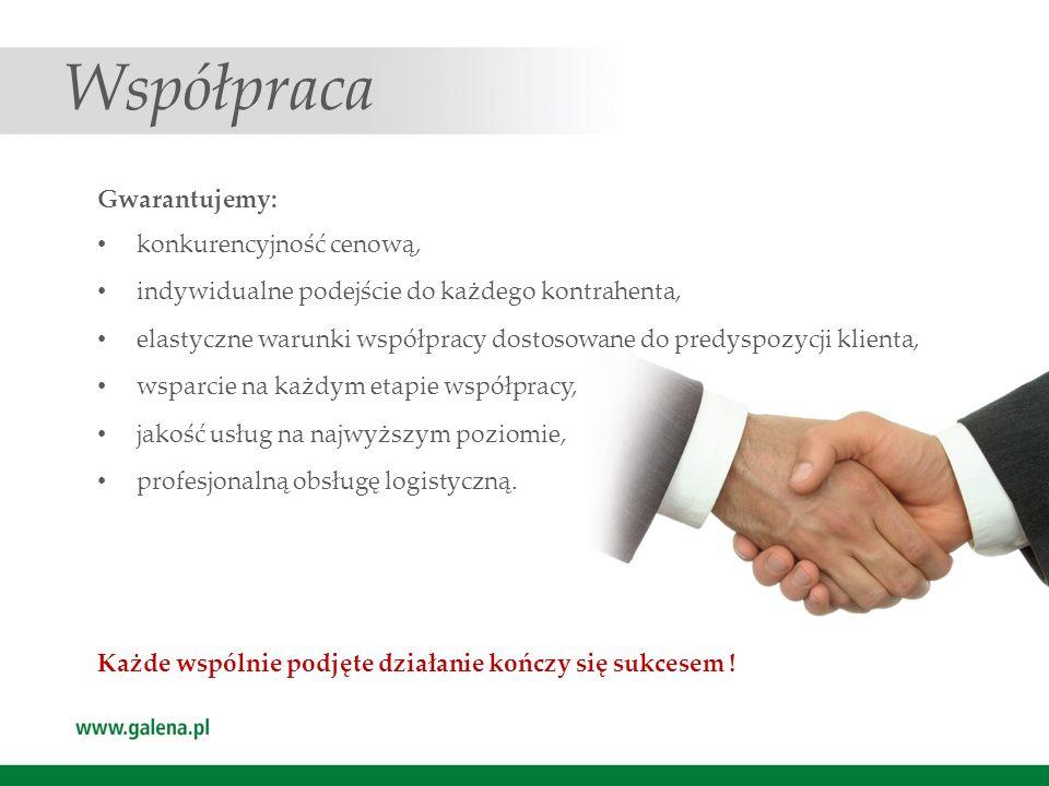Współpraca Gwarantujemy: konkurencyjność cenową,