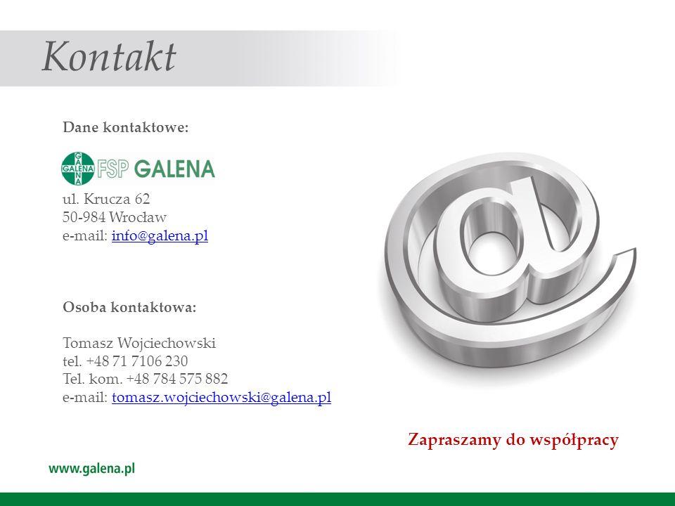 Kontakt Zapraszamy do współpracy Dane kontaktowe: ul. Krucza 62