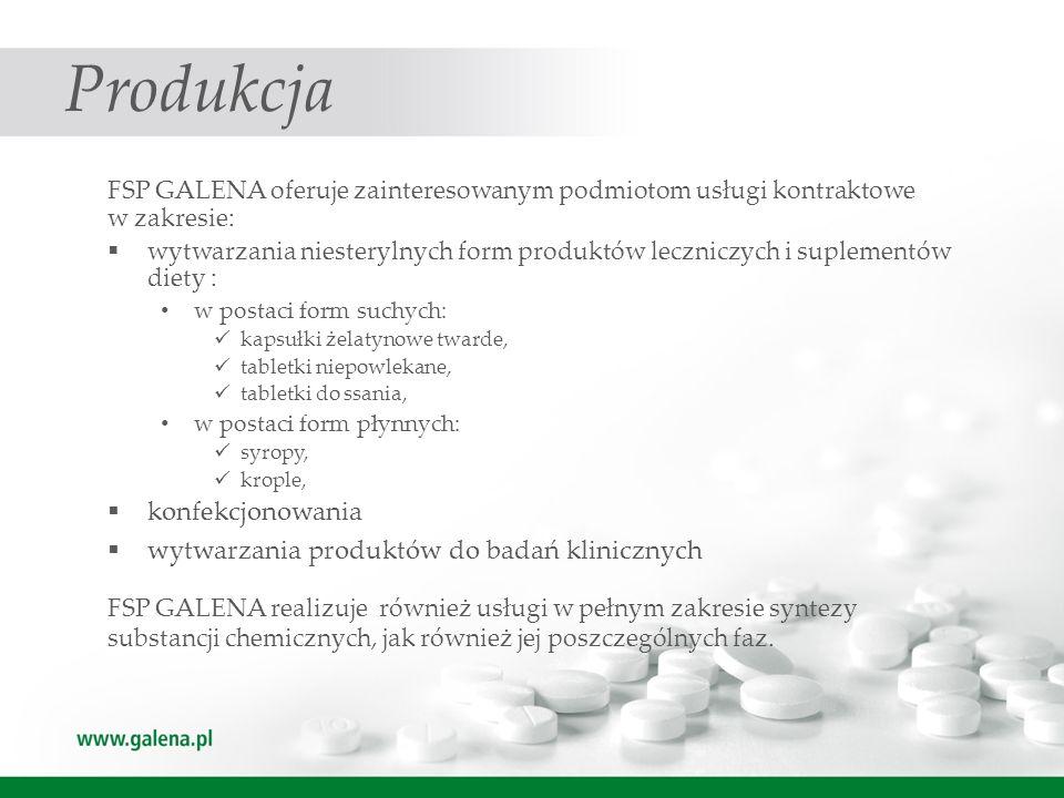 Produkcja konfekcjonowania wytwarzania produktów do badań klinicznych