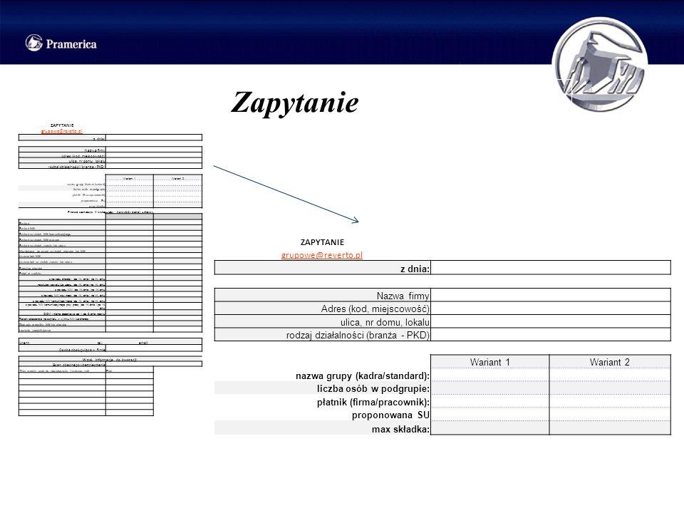 Zapytanie ZAPYTANIE grupowe@reverto.pl z dnia: Nazwa firmy