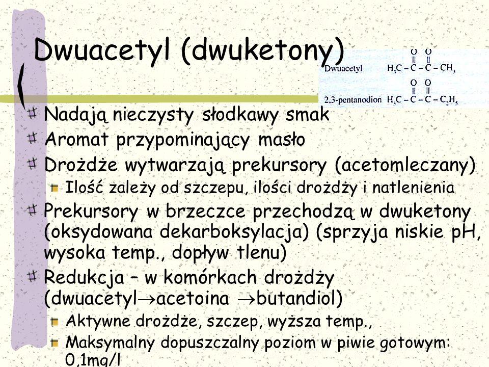 Dwuacetyl (dwuketony)