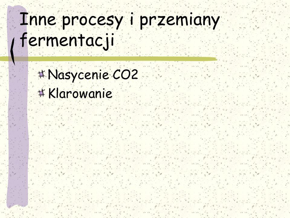 Inne procesy i przemiany fermentacji