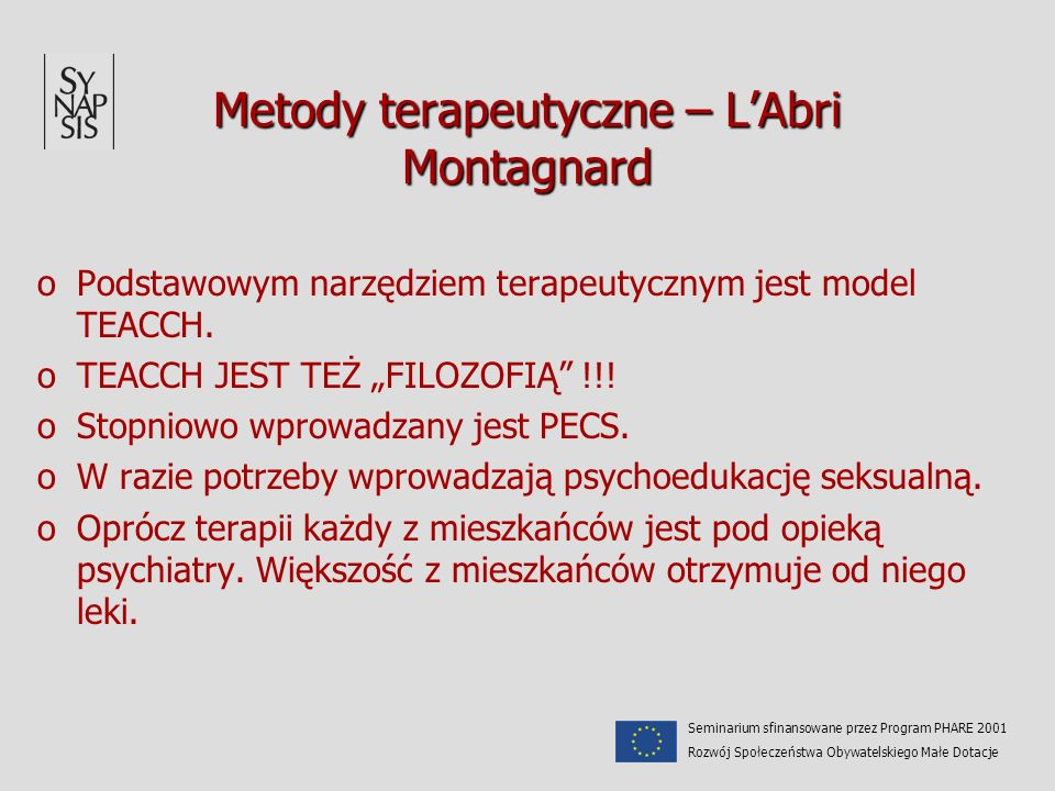 Metody terapeutyczne – L'Abri Montagnard