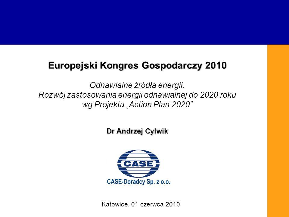 Europejski Kongres Gospodarczy 2010 Odnawialne źródła energii