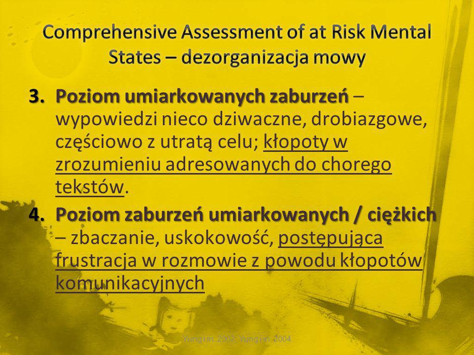 Comprehensive Assessment of at Risk Mental States – dezorganizacja mowy