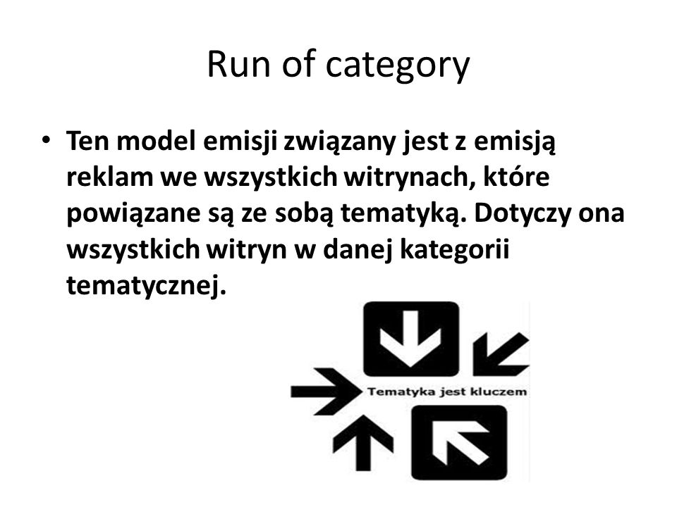 Run of category