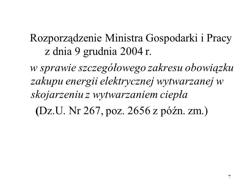 Rozporządzenie Ministra Gospodarki i Pracy z dnia 9 grudnia 2004 r.