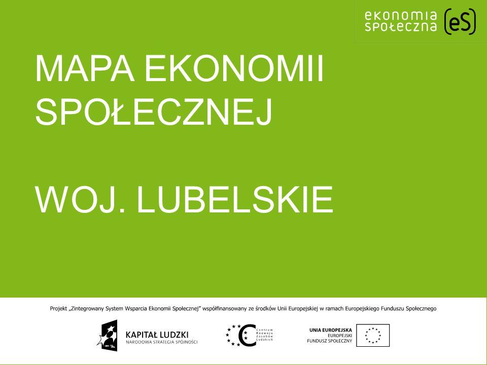 mapa ekonomii społecznej woj. lubelskie