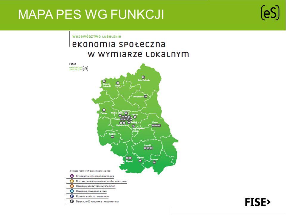 Mapa PES wg funkcji