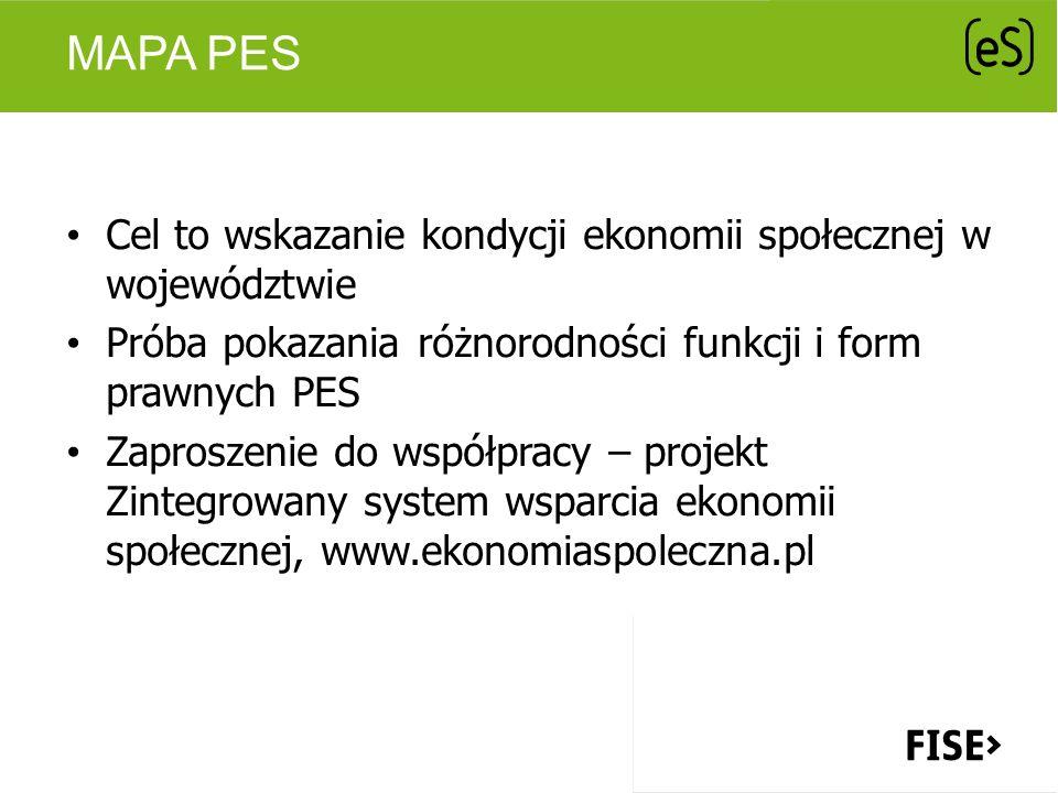 Mapa PES Cel to wskazanie kondycji ekonomii społecznej w województwie
