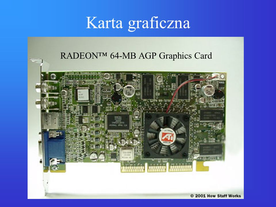 Karta graficzna RADEON™ 64-MB AGP Graphics Card