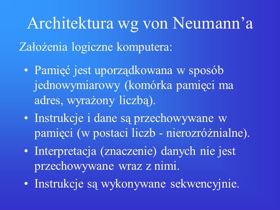 Architektura wg von Neumann'a