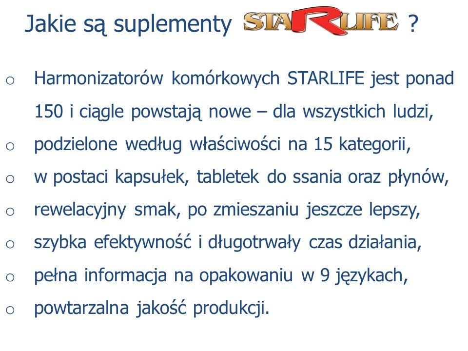 Jakie są suplementy Harmonizatorów komórkowych STARLIFE jest ponad 150 i ciągle powstają nowe – dla wszystkich ludzi,