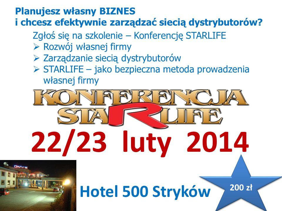 22/23 luty 2014 Hotel 500 Stryków Planujesz własny BIZNES